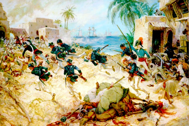 Lieutenant Presley O'Bannon at Derna.